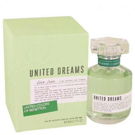 Benetton United Dreams Live Free Eau De Toilette Spray