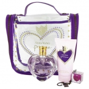 Vera Wang Princess Gift Set 1.7 oz Eau De Toilette Spray + 2.5 oz Body Lotion + .11 oz Lip Gloss + Travel Bag