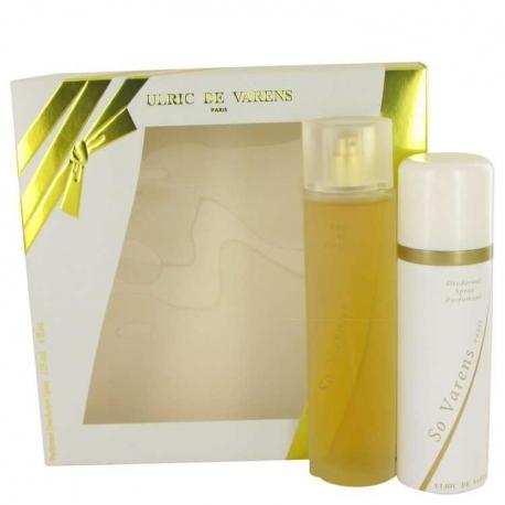 Ulric de Varens So Varens Gift Set 2.5 oz Eau De Parfum Spray + 4 oz Deodorant Spray