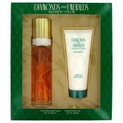 Elizabeth Taylor Diamonds & Emeralds Gift Set 100 ml Eau De Toilette Spray + 100 ml Body Lotion