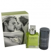 Calvin Klein Eternity For Men Gift Set 100 ml Eau De Toilette Spray + 75 ml Deodorant Stick (alcohol )
