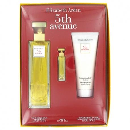 Elizabeth Arden 5th Avenue Gift Set 125 ml Eau De Parfum Spray + 3 ml Mini + 100 ml Body Lotion