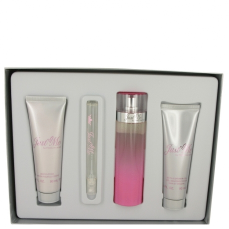 Paris Hilton Just Me Gift Set 100 ml Eau De Parfum Spray + 90 ml Body Lotion + 90 ml Shower Gel + 10 ml Mini EdP Spray
