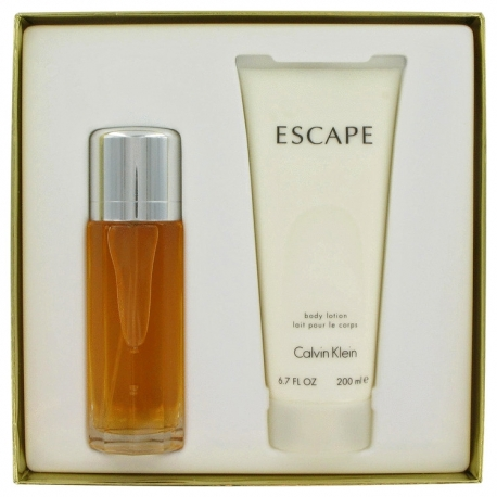Calvin Klein Escape Gift Set 100 ml Eau De Parfum Spray + 200 ml Body Lotion