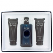 Davidoff Cool Water Man Gift Set 125 ml Eau De Toilette Spray + 75 ml After Shave Balm + 75 ml Shower Gel