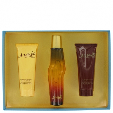 Liz Claiborne Mambo For Men Gift Set 100 ml Cologne Spray + 100 ml Body Wash + 100 ml Body Moisturizer