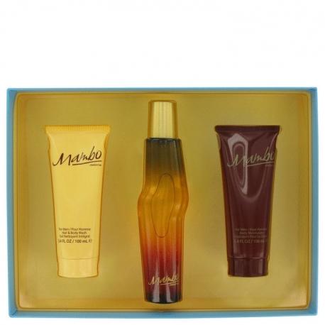 Liz Claiborne Mambo For Men Gift Set 100 ml Cologne Spray + 100 ml Body Wash + 100 ml Body Moisturizer