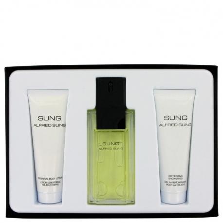Alfred Sung Sung Gift Set 100 ml Eau De Toilette Spray + 75 ml Body Lotion + 75 ml Shower Gel