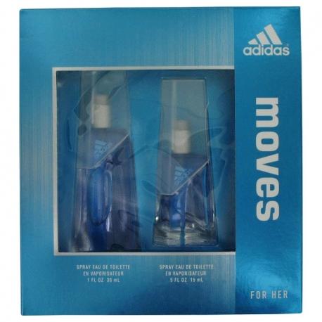 Adidas Moves Her Gift Set 30 ml Eau De Toilette Spray + 15 ml Eau De Toilette Spray