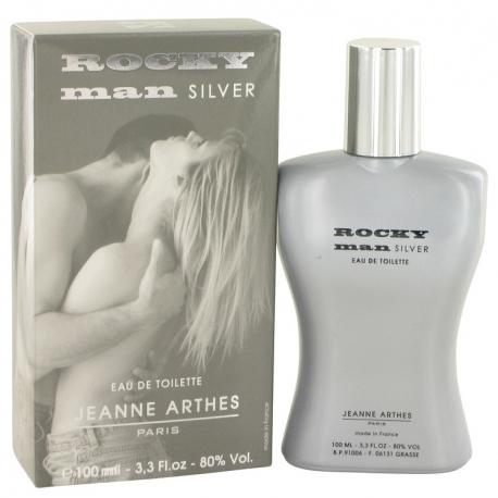 Jeanne Arthes Rocky Man Silver Eau De Toilette Spray
