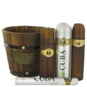 Fragluxe Cuba Gold Gift Set 100 ml Eau De Toilette Spray + 35 ml Eau De Toilette Spray + 200 ml Body Spray + 100 ml After