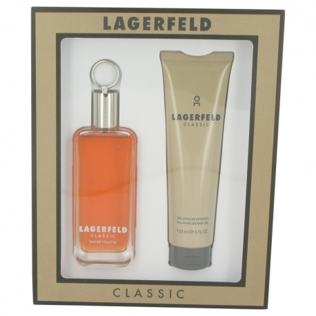 Karl Lagerfeld Lagerfeld Men Gift Set 100 ml Eau De Toilette Spray + 150 ml Shower Gel