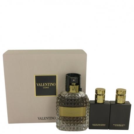 Valentino Uomo Gift Set 100 ml Eau De Toilette Spray + 50 ml Shower Gel + 50 ml After Shave Balm