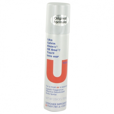 Parfums de Coeur Designer Imposters U You Deodorant Body Spray (Unisex)