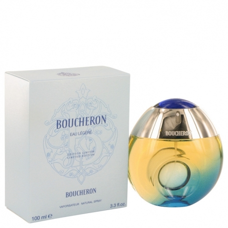 Boucheron Eau Legere Eau De Toilette Spray (Blue Bottle, Bergamote, Genet, Narcisse, Musc)