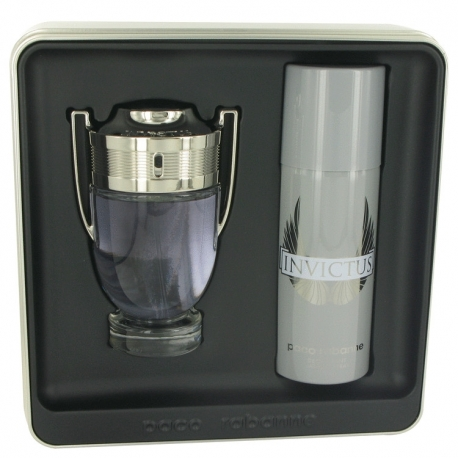 Paco Rabanne Invictus Gift Set 100 ml Eau De Toilette Spray + 150 ml Deodorant Spray