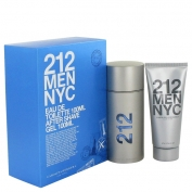 Carolina Herrera 212 Men Gift Set 100 ml Eau De Toilette Spray + 100 ml After Shave Gel