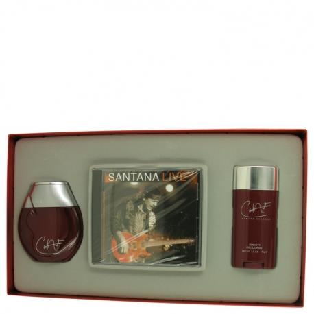 Carlos Santana Carlos Santana Gift Set 3.4 oz Fine Cologne Spray + 2.6 oz Deodorant Stick + Carlos Santana Live CD