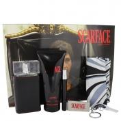Universal Studios Scarface Al Pacino Gift Set 3.4 oz Eau De Toilette Spray + 6.8 oz Body Lotion + .34 oz Mini EDT Spray +