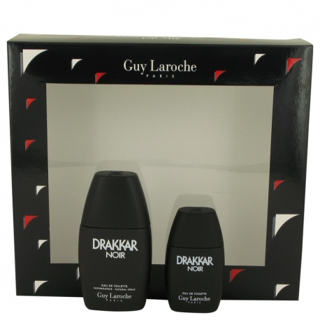 Guy Laroche Drakkar Noir Gift Set 1 oz Eau De Toilette Spray + .5 oz Mini EDT