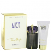 Thierry Mugler Alien Gift Set 60 ml Eau De Parfum Spray Refillable + 100 ml Body Lotion