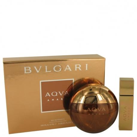 Bvlgari Aqva Amara Gift Set 3.4 oz Eau De Toilette Spray + 0.5 oz Mini EDT Spray