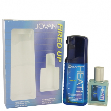 Jovan Jovan Heat Fired Up Gift Set 8.4 oz Cologne Body Spray + 2 oz After Shave/Cologne
