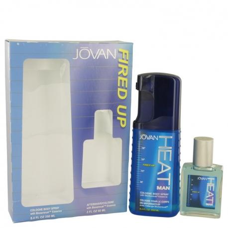 Jovan Jovan Heat Fired Up Gift Set 8.4 oz Cologne Body Spray + 2 oz After Shave/Cologne