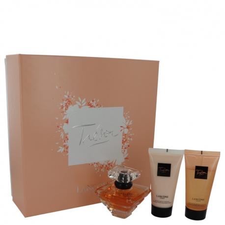 Lancôme Tresor Gift Set 1.7 oz L'eau De Parfum Spray + 1.7 oz Body Lotion + 1.7 oz Shower Gel