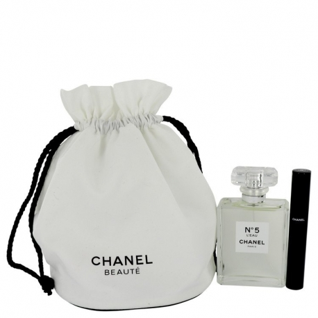 Chanel No 5 L'eau Gift Set 3.4 oz Eau De Toilette Spray + Le Volume 10 Mascara in Gift Pouch