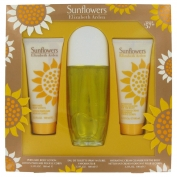 Elizabeth Arden Sunflowers Gift Set 3.3 oz Eau De Toilette Spray + 3.3 Body Lotion + 3.3 oz Body Cream