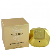 Paco Rabanne Lady Million Gift Set 2.7 oz Eau De Parfum Spray + .34 oz Min EDP Spray + 2.5 oz Body Lotion