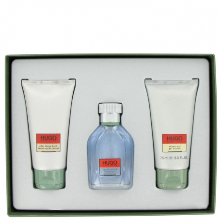 Hugo Boss Hugo Gift Set 1.3 oz Eau De Toilette Spray + 2.5 oz After Shave Balm + 2.5 oz Shower Gel
