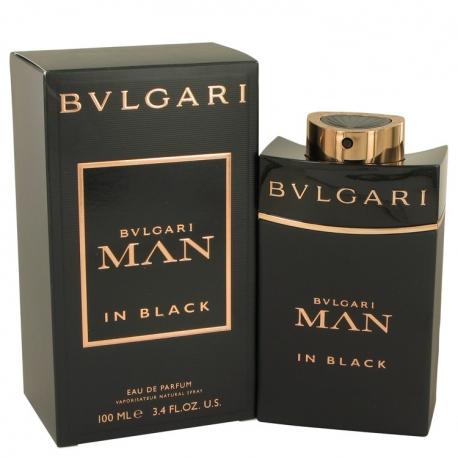 Bvlgari Man In Black Gift Set 3.4 oz Eau De Toilette Spray + 2.5 oz After Shave Balm +2.5 oz Shower Gel + Pouch