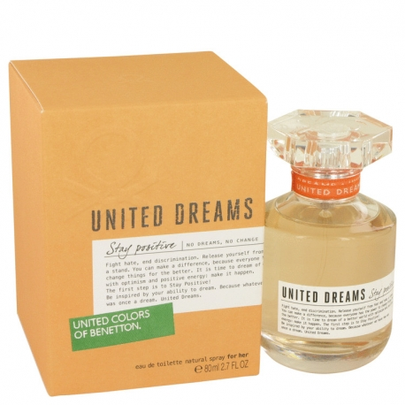 Benetton United Dreams Stay Positive Gift Set 1.7 oz Eau De Toilette Spray + 3.4 oz Body Lotion