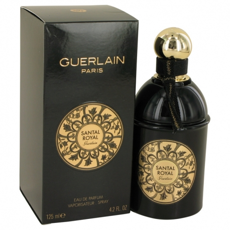 Guerlain Santal Royal Gift Set 4.2 oz Eau De Parfum Spray + .5 oz Travel Size Eau De Parfum Spray
