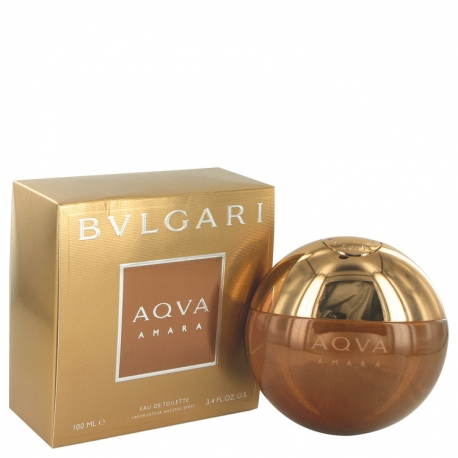 Bvlgari Aqva Amara Gift Set 3.4 oz Eau De Toilette Spray + 2.5 oz After Shave Balm _ 2.5 oz Shower Gel