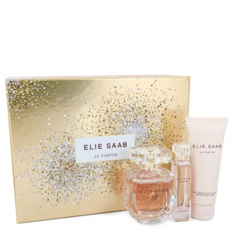 Elie Saab Le Parfum Gift Set 3 oz Eau De Parfum Spray + .33 oz Travel EDP Spray + 2.5 oz Body Lotion