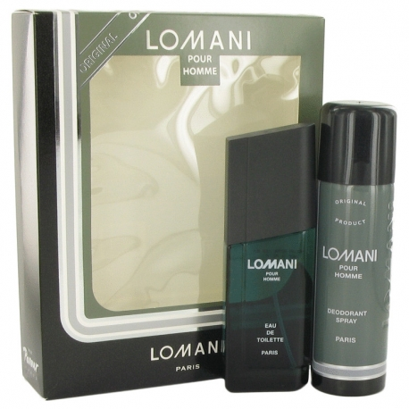 Lomani Lomani Gift Set 100 ml Eau De Toilette Spray + 200 ml Deodorant Spray