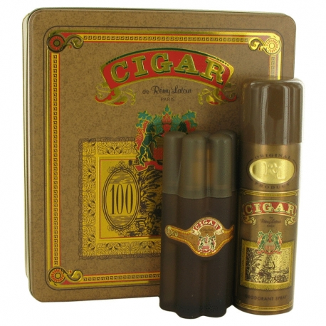 Remy Latour Cigar Gift Set 100 ml Eau De Toilette Spray + 195 ml Deodorant