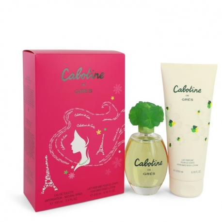 Gres Cabotine Gift Set 100 ml Eau De Toilette Spray + 200 ml Body Lotion