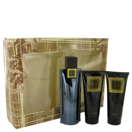 Liz Claiborne Bora Bora For Men Gift Set 100 ml Cologne Spray + 100 ml Body Moisturizer + 100 ml Hair & Body Wash