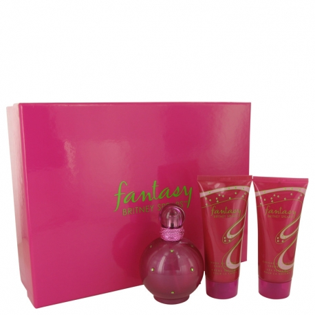 Britney Spears Fantasy Gift Set 100 ml Eau De Parfum Spray + 100 ml Body Souffle + 100 ml Shower Gel