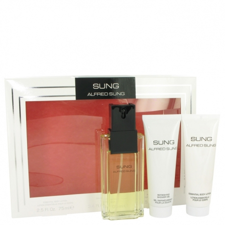 Alfred Sung Sung Gift Set 100 ml Eau De Toilette Spray + 75 ml Body Lotion + 75 ml Shower Gel