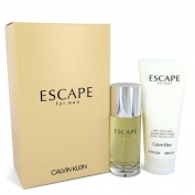 Calvin Klein Escape For Men Gift Set 100 ml Eau De Toilette Spray + 200 ml After Shave Balm