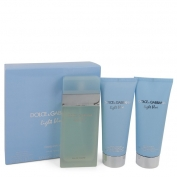 Dolce & Gabbana D&g Light Blue Gift Set 100 ml Eau De Toilette Spray + 100 ml Body Cream + 100 ml Shower Gel