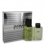 Antonio Puig Quorum Silver Gift Set 100 ml Eau De Toilette Spray + 100 ml After Shave