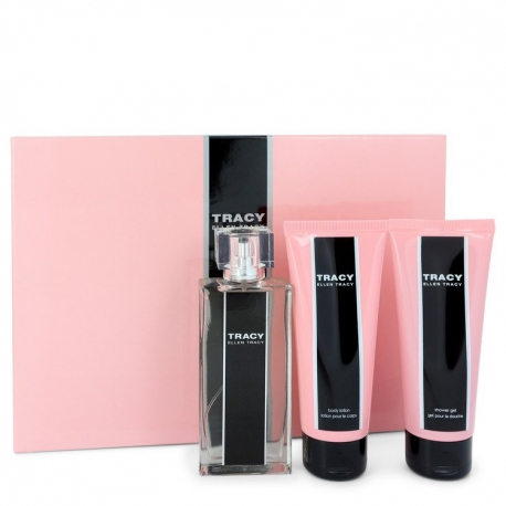 Ellen Tracy Tracy Gift Set 75 ml Eau De Parfum Spray + 100 ml Body Lotion + 100 ml Shower Gel