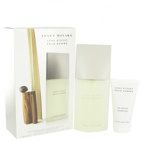 Issey Miyake L'eau D'issey Pour Homme Gift Set 125 ml Eau De Toilette Spray + 75 ml Shower Gel