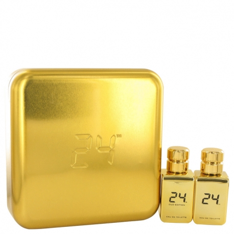 Scentstory 24 Gold Oud Edition Gift Set 24 Gold 50 ml Eau De Toilette Spray + 24 Gold Oud 50 ml Eau De Toilette Spray